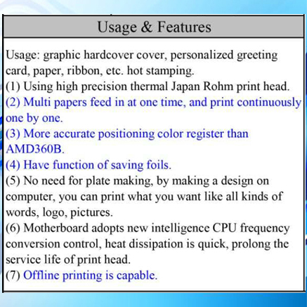 Usage&Features
